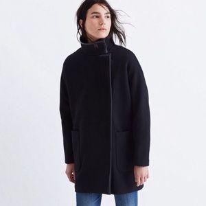 Madewell City Grid Wool Coat